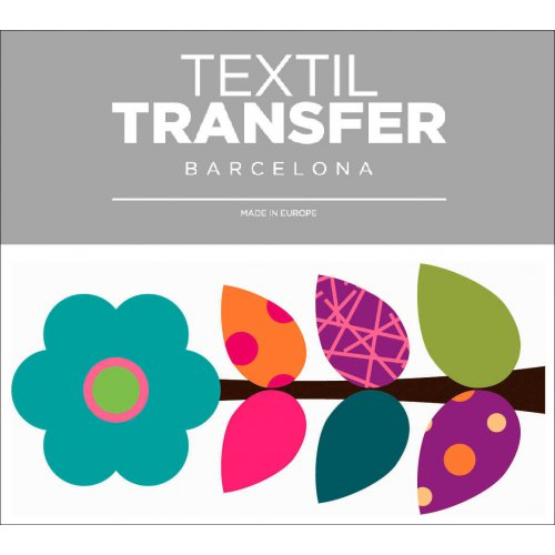 Obtisk na textil - FLOWER 60'S 8 - 10x5 cm