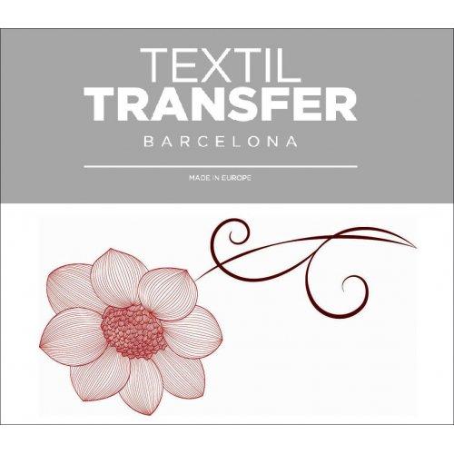 Obtisk na textil - FLOWER 50´S 1 - 10x5 cm