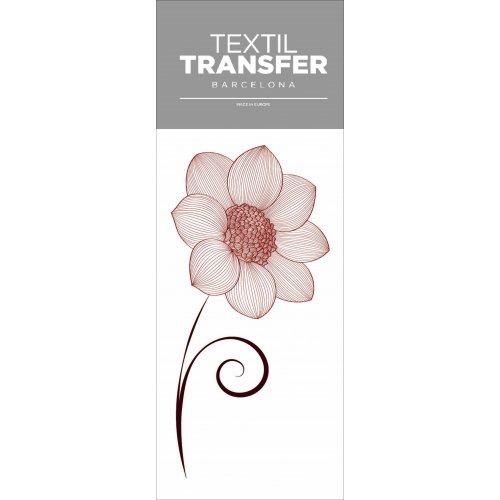 Obtisk na textil - FLOWER 50´S 2 - 10x20 cm