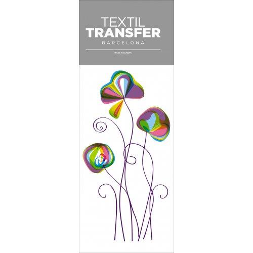 Obtisk na textil - FLOWER 70´S - 10x20 cm