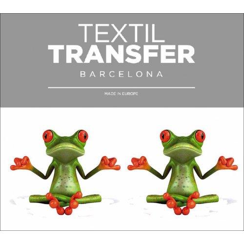Obtisk na textil - ŠŤASTNÝ ŽABÁK - 10x5 cm
