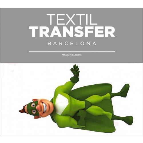 Obtisk na textil - SUPER ZELEŇÁK - 10x5 cm