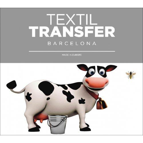 Obtisk na textil - I LOVE MILK - 10x5 cm