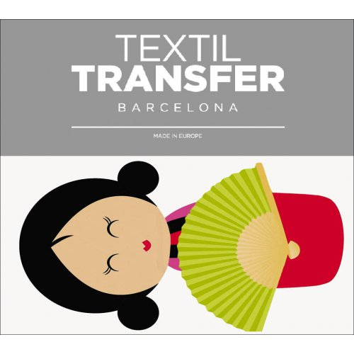 Obtisk na textil - GEJŠA 3 - 10x5 cm