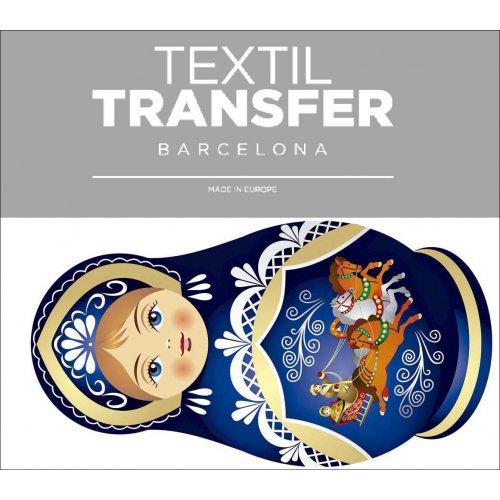 Obtisk na textil - MATRJOŠKA 1 - 10x5 cm