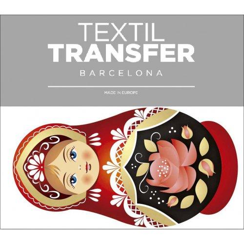 Obtisk na textil - MATRJOŠKA 2 - 10x5 cm