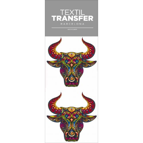 Obtisk na textil - TAURO - 10x20 cm