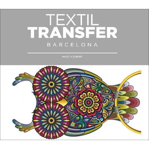 Obtisk na textil - MAGICKÁ SOVA - 10x5 cm