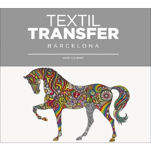 Obtisk na textil - MAGICKÝ KŮŇ - 10x5 cm