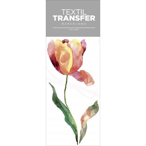 Obtisk na textil - TULIPÁN - 10x20 cm