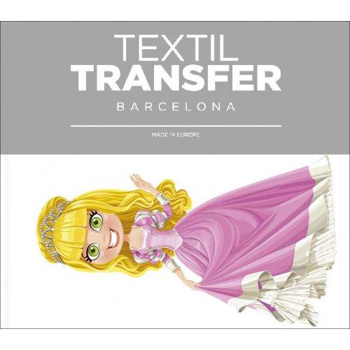 Obtisk na textil - PRINCEZNA BLONDÝNKA - 10x5 cm