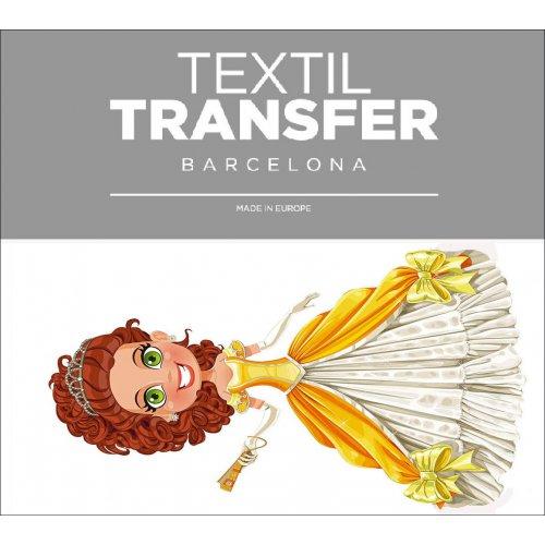 Obtisk na textil - PRINCEZNA ZRZKA - 10x5 cm