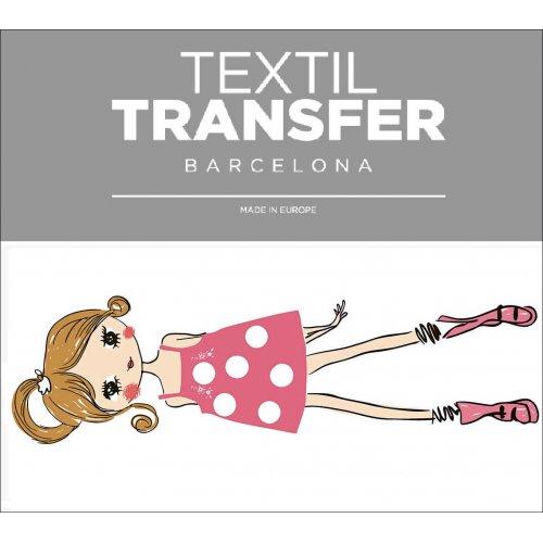 Obtisk na textil - FASHION GIRLS - 10x5 cm