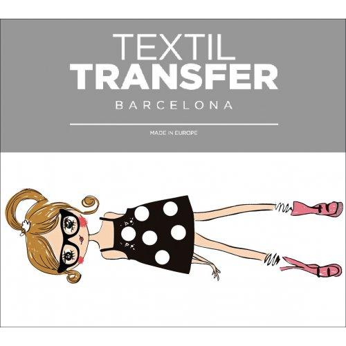 Obtisk na textil - FASHION GIRLS 2 - 10x5 cm