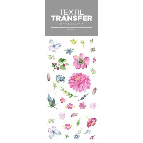 Obtisk na textil - KVĚTINOVÝ DESIGN - 10x20 cm