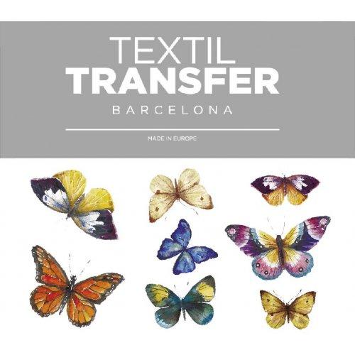Obtisk na textil - MOTÝLI  - 10x5 cm