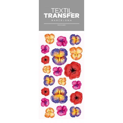 Obtisk na textil - SADA KVĚTŮ 2 - 10x20 cm