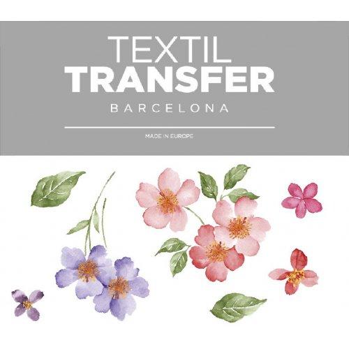 Obtisk na textil - SADA KVĚTŮ 3 - 10x5 cm