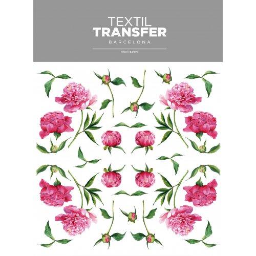 Obtisk na textil -  PIVOŇKY - 20x20 cm