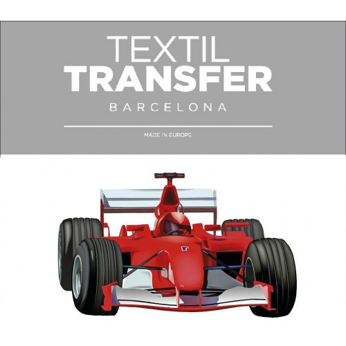 Obtisk na textil -  FORMULE 1 - 10x5 cm