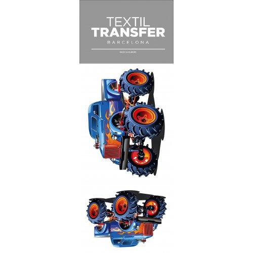 Obtisk na textil -  MONSTER TRUCK - 10x20 cm