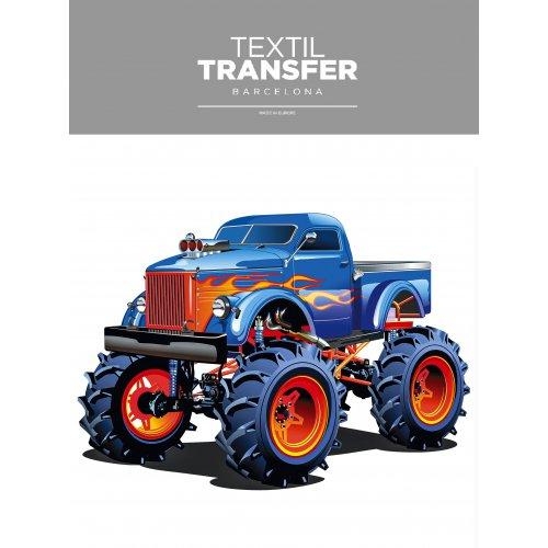 Obtisk na textil -  MONSTER TRUCK - 20x20 cm