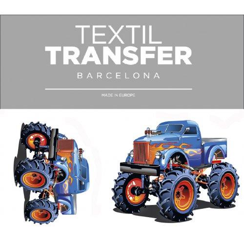 Obtisk na textil -  MONSTER TRUCK - 10x5 cm