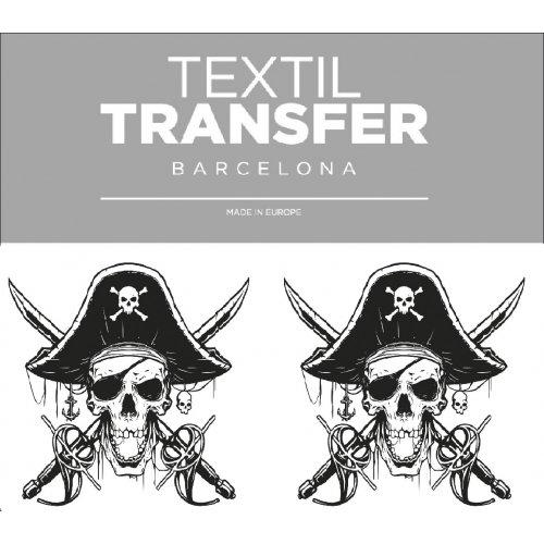 Obtisk na textil -  PIRÁT - 10x5 cm
