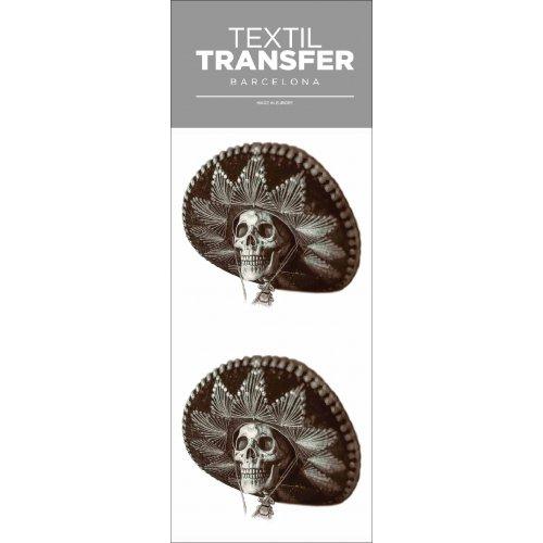 Obtisk na textil -  MEXICKÁ SMRTKA - 10x20 cm