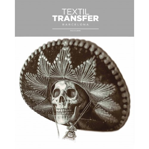 Obtisk na textil -  MEXICKÁ SMRTKA - 20x20 cm