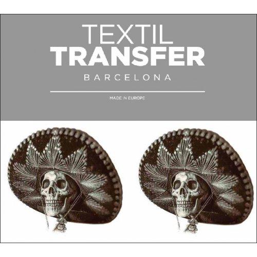 Obtisk na textil -  MEXICKÁ SMRTKA - 10x5 cm