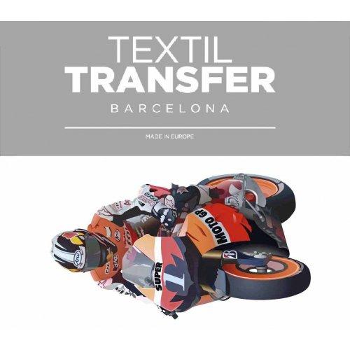 Obtisk na textil - MOTO GP - 10x5 cm