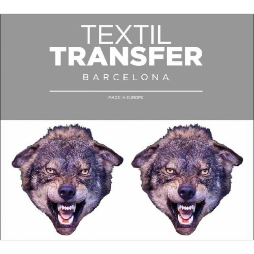 Obtisk na textil - VLK - 10x5 cm