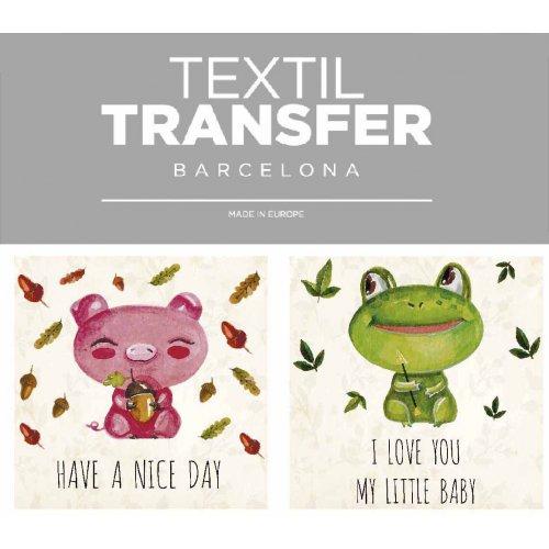 Obtisk na textil - HAVE A NICE DAY - 10x5 cm