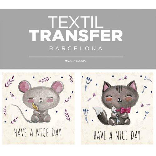 Obtisk na textil - HAVE A NICE DAY 2 - 10x5 cm