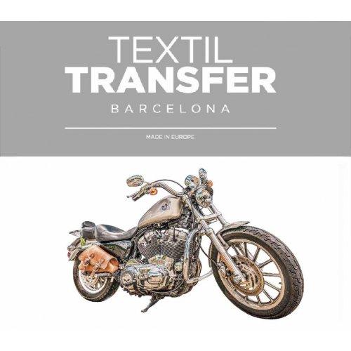 Obtisk na textil - DIVOKÁ MOTORKA - 10x5 cm
