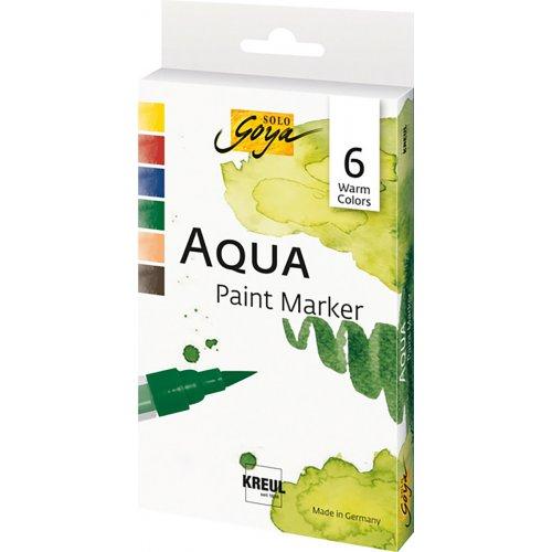 Sada Aqua marker SOLO GOYA TEPLÉ BARVY 6 barev