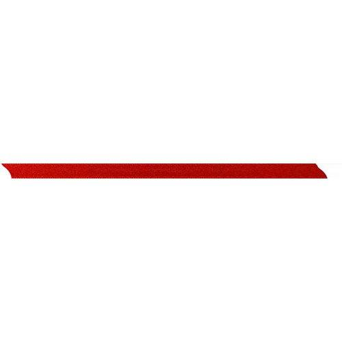 Stuha saténová oboustranná ČERVENÁ šířka 5 mm