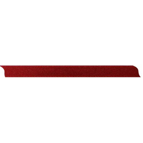 Stuha saténová oboustranná TMAVĚ ČERVENÁ šířka 10 mm