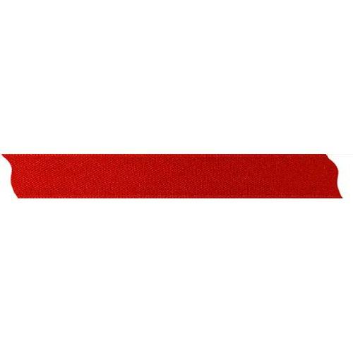 Stuha saténová oboustranná ČERVENÁ šířka 15 mm