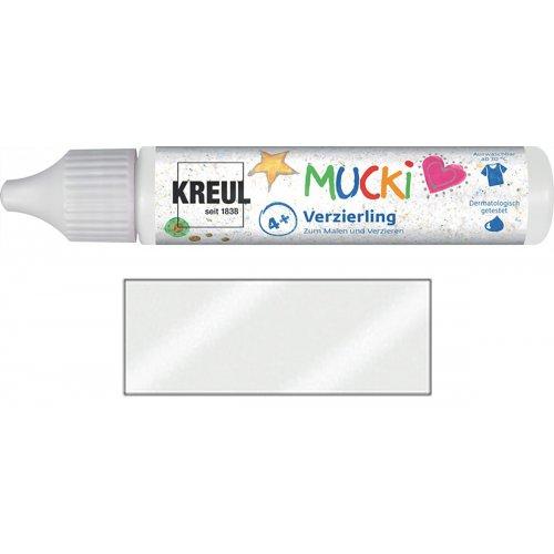 Třpytivé zdobení MUCKI 29 ml v tubě blyštivá bílá