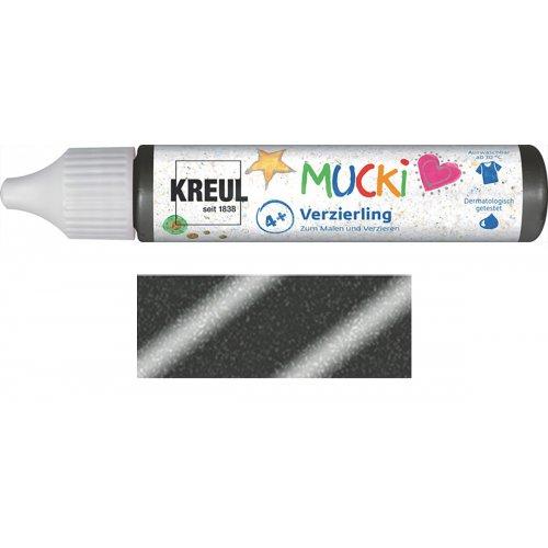 Třpytivé zdobení MUCKI 29 ml v tubě blyštivá černá