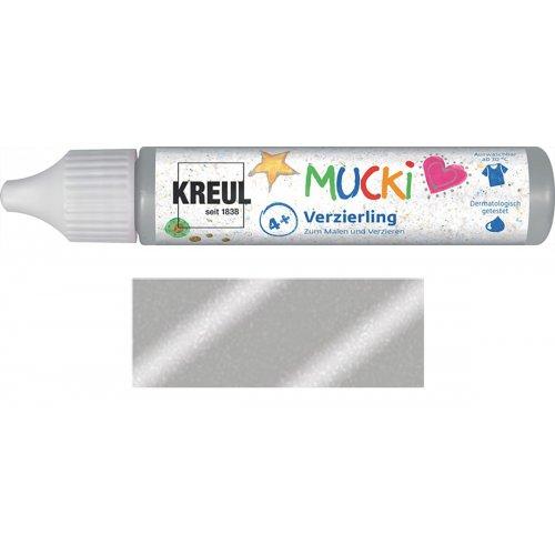 Třpytivé zdobení MUCKI 29 ml v tubě blyštivá stříbrná