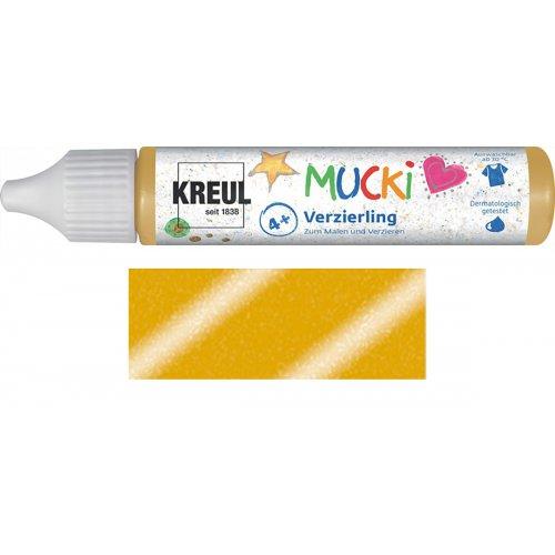 Třpytivé zdobení MUCKI 29 ml v tubě blyštivá zlatá