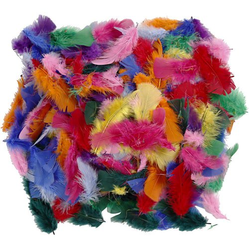 Peříčka, vel. 7-8 cm, různé barvy, 50g - CC51661.jpg