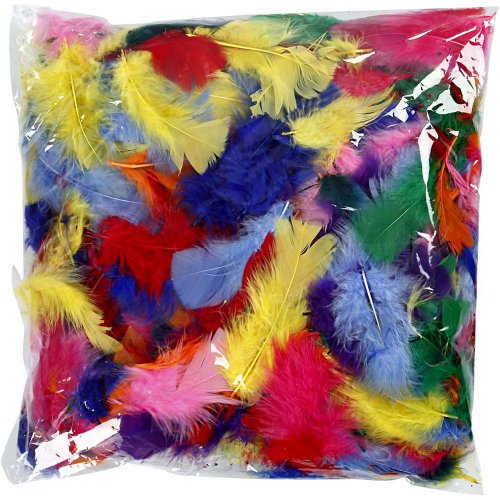 Peříčka, vel. 7-8 cm, různé barvy, 50g - CC51661_b.jpg