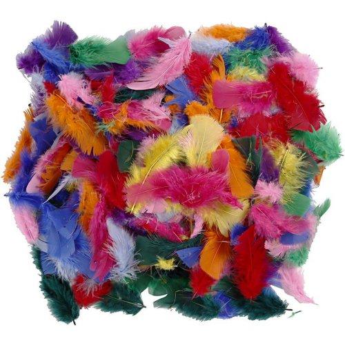 Peříčka, vel. 7-8 cm, různé barvy, 50g