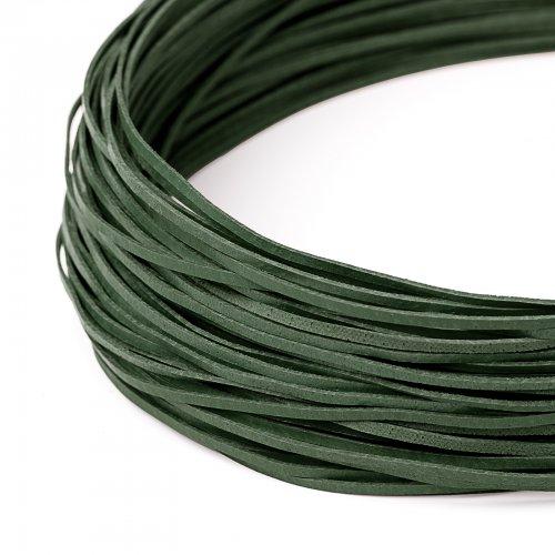 Kožený řemínek plochý 120 cm zelený