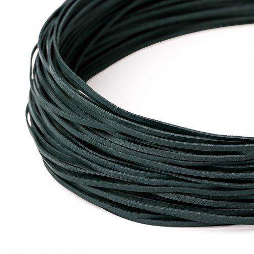 Kožený řemínek plochý 120 cm tmavě zelený