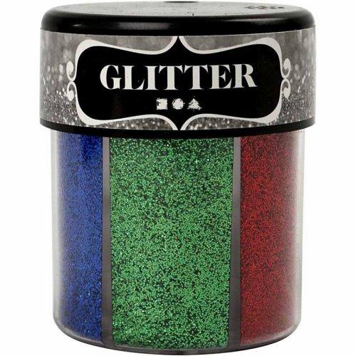 Sada Glitter třpytky 6 x 13 g tmavé barvy